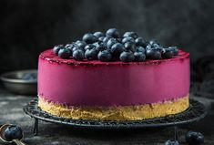 Mini Cheesecakes, Pretty Cakes, Ham, Blueberry, Muffins, Food Photography, Deserts, Food And Drink, Cooking Recipes
