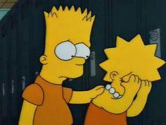 Bart Simpson & Lisa Simpson on We Heart It Simpson Wallpaper Iphone, Cartoon Wallpaper Iphone, Mood Wallpaper, Deep Wallpaper, Psycho Wallpaper, Bart E Lisa, Bart And Lisa Simpson, Bart Simpson Tumblr, Lisa Simpsons