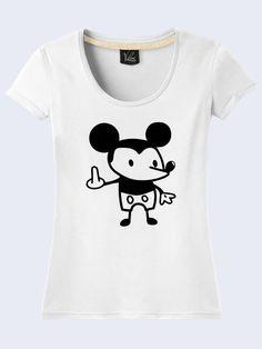 Disney Mickey Mouse Cartoon Novelty White Tee T-Shirt Short Sleeve Size  XS-XL e7360659a83a
