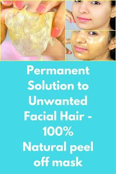 Permanent Solution to Unwanted Facial Hair - Natural peel off mask When you apply this mask, You will see that how simply it removes all facial hair and gives you a clean glowing skin. Gelatin has little stinky smell, Removing the smell of gelatin fr Gelatin Hair, Homemade Acne Treatment, Skin Care Masks, Peel Off Mask, Homemade Face Masks, Unwanted Facial, Skin Brightening, Facial Hair, Facial Masks