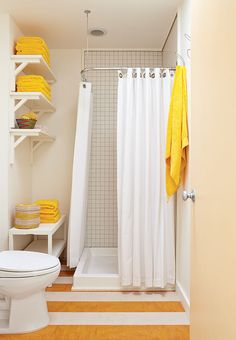 Image result for bathroom idea with color pops
