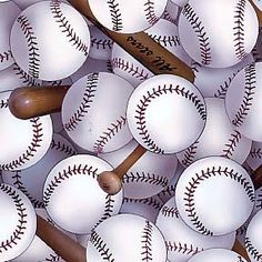 Baseball Fabric Quilt Sports Cotton Fleece
