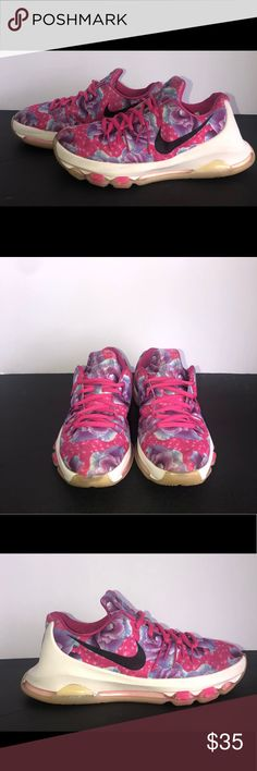 247845e96124 Youth Nike KD 8 GS Aunt Pearl Floral Print Shoes Youth Nike KD 8 GS Aunt