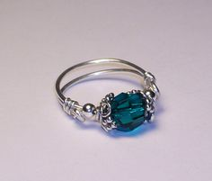 Emerald Green Swarovski Crystal Sterling Silver by LaurenKusar, $28.00