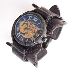 Gothic Watch Mens Gothic Watch Black Gothic by loversbracelets