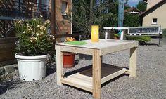 table basse recyclé ou table à dessin pour enfants : Meubles et rangements par palcreassion