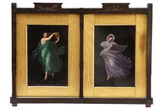 19th-C. Aesthetic Period Diptych for Master Bedroom