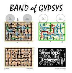 This is a library of perfboard and single-sided PCB effect layouts for guitar and bass for pedal building enthusiasts. Acoustic Guitar Tattoo, Semi Acoustic Guitar, Music Guitar, Electronics Basics, Electronics Projects, Guitar Effects Pedals, Guitar Pedals, Diy Guitar Pedal, Band Of Gypsys