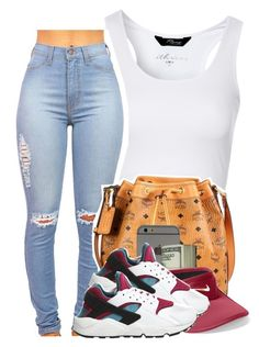 """Back up off me ~ Dej Loaf"" by heavensincere ❤ liked on Polyvore featuring Jane Norman, MCM and NIKE"