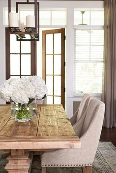 elagent chairs for rustic table