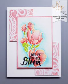 Inspired by Stamping, Nupur Priya, Magnolias stamp set, thinking of you card, floral card