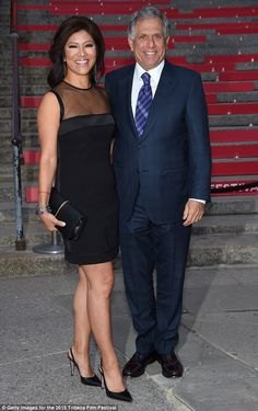 Power couple: CBS president Leslie Moonves came to the party with his wife, newswoman Conn...