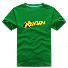 ROBIN LOGO Print Short-sleeve Unisex T-Shirt - Super Hero Tees For Men & Women-Campaign Categories - TopBuy.com.au