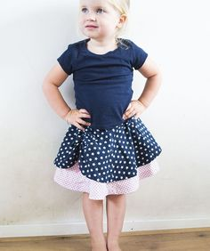 Free DYYNI Skirt Pattern | This free skirt tutorial for girls in perfect for the 4th of July!