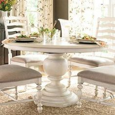 Paula Deen Round Pedestal Table Linen Finish Is A Part Of Paula Deen  Furniture Collection. Available At Knight Furniture Showrooms In Florence,  SC.
