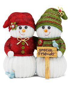 This 'Special Friends' Snowmen Figurine is perfect! #zulilyfinds