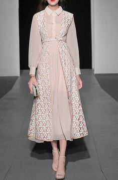 Polina Gerasimova Coat and hat inspired by the Muslim Fashion, Modest Fashion, Hijab Fashion, Korean Fashion, Fashion Dresses, Elegant Outfit, Elegant Dresses, Vintage Dresses, Casual Dresses