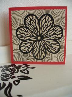 Kytka otevírací přání, 10x10 cm ručně malované I Card