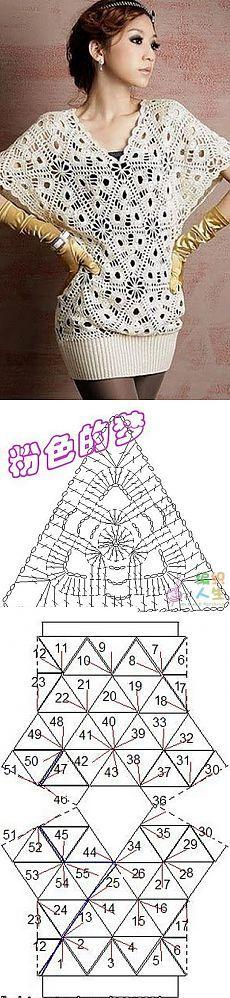 Blusa de motivos triangulares