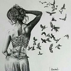 art, be you, beauty, birds, broken, drawing, fly, freedom, heartbroken, live, love, no love, sad, sadness, sketch, speechless