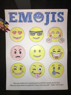Free Emojis Bible Verse Coloring Page For Kids