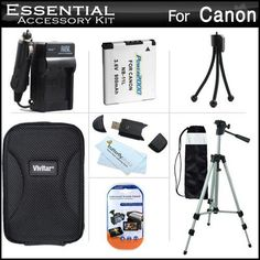 """Essential Accessories Kit For Canon Powershot Elph 130 IS, ELPH 115 IS, A2600, A2500, A2300 IS, A2400 IS, A3400 IS, A4000 IS Digital Camera Includes Extended Replacement (900 maH) NB-11L Battery + AC/DC Travel Charger + Hard Case + 50"""" Tripod w/Case +++ - http://yourperfectcamera.com/essential-accessories-kit-for-canon-powershot-elph-130-is-elph-115-is-a2600-a2500-a2300-is-a2400-is-a3400-is-a4000-is-digital-camera-includes-extended-replacement-900-mah-nb-11l-battery-ac/"""