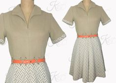 1960s Knit Dress Fitted by KayDoveVintage
