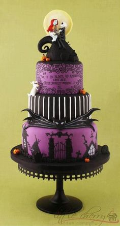 Tim Burton's A Nightmare Before Christmas cake found on FB