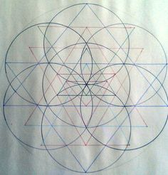 Sri Chakra within Flower of Life