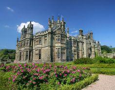 tudor gothic house | Margam Castle, a Tudor Gothic mansion house built by Christopher Rice ...