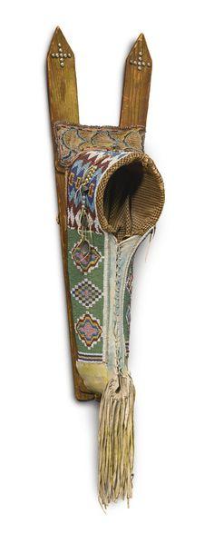 Kiowa Beaded Hide Cradle   Lot   Sotheby's Native American Baby, Native American Tribes, Native American Beading, Native American History, Native Americans, American Indians, American Art, Baby Cradles, Beaded Moccasins