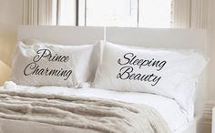 Sleeping Beauty Prince Charming His and Her by aGoGoPillowcases