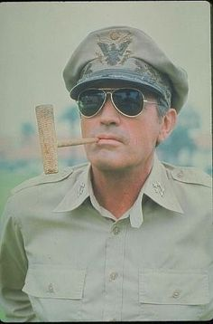 """General Douglas MacArthur (played by Gregory Peck) from """"MacArthur"""" Hollywood Men, Vintage Hollywood, Classic Hollywood, Famous Men, Famous Faces, Douglas Macarthur, Atticus Finch, Smokey And The Bandit, Gregory Peck"""