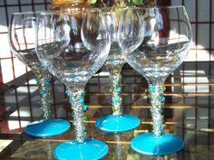 Wire Wrapped/Beaded Glasses | Glitz & Grandeur