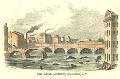 The Rochester Aqueduct was built in 1840 and was used to carry the Eerie Canal over the Genesee River. The original design was 800 feet long and included seven stone arches stretching across the Genesee. The aqueduct was abandoned in 1918 and later would become part of the Rochester Subway.
