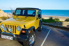 Yellow Jeep TJ