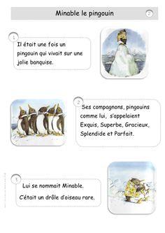 Minable le pingouin, histoire à raconter, télécharger les pages