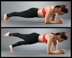 Forearm Plank With Single Leg Lifts