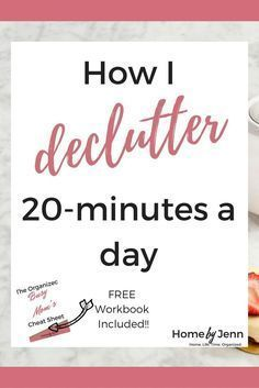 In this post, Jenn shows you exactly how her decluttering process works. Declutter your home and become more organized by only spending a day at this. There's a free decluttering checklist too to help you become more organized. Getting Rid Of Clutter, Getting Organized, Planners, Clutter Solutions, Storage Solutions, Clutter Control, Declutter Your Life, Clutter Free Home, Clutter Organization