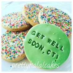 'Get well soon' wishes cookies!