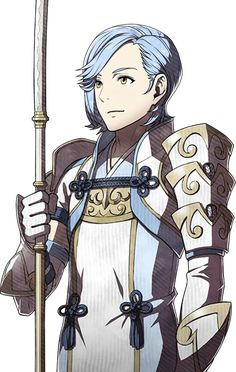 Fire Emblem Fates - Shigure sprite edit. He's both beautiful and adorable at the same time! ^^