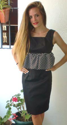 Conjunto falda Fátima  y top Umbría #falda #top #diseño #moda #lunares