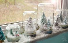 DIY Waterless Snowglobes