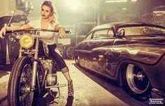 American Racing girl #girls #motorcycles #motos | caferacerpasion.com