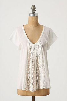 pretty white blouse