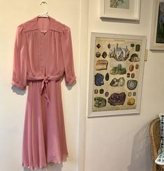 "Vintage 80s dress - ""Looking Good"" dusty rose 2 piece"