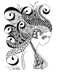 Zentangle Doodle Patterns | Zen Lady Digital Art by Debi Payne - Zen Lady Fine Art Prints and ...