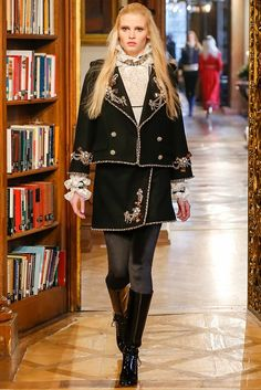"The latest Chanel collection ""Paris-Salzburg"" was inspired by Chanel's trip to the Mittersill Hotel in Salzburg (Austria), where a bell-boy's uniform was .."