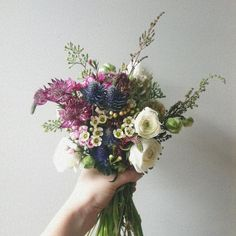 great mix...i can definitely see my bridesmaids carrying something like this.    Wild Folk Studio