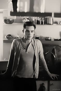 i am completely in love with ed westwick. ohh chuck bass the things i would do to you